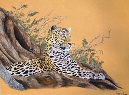 """Leopard in Tree"""