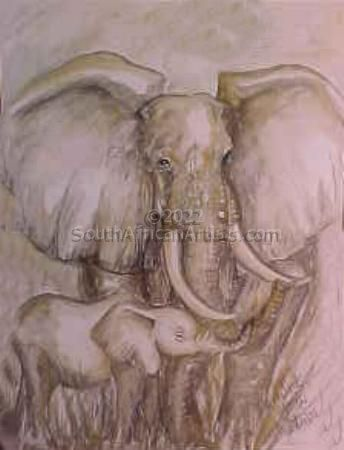 """Mother Elephant Love"""