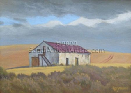 """Red roof barn, Overberg"""