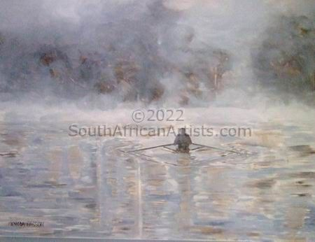 """Rowing in the mist"""