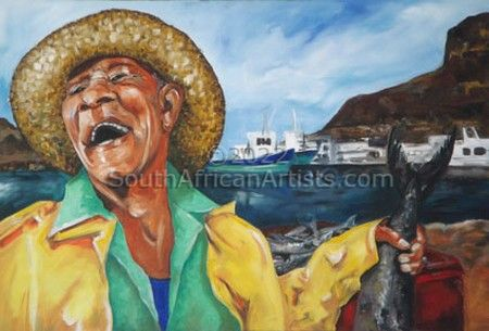 """Fisherman at Hout Bay Harbour"""