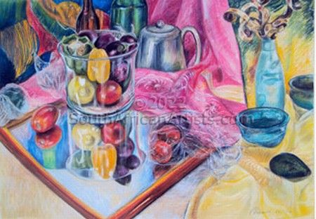 """Still Life with Pink Scarf"""