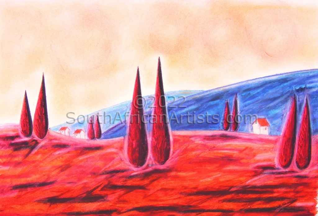 """Cypress and Tumbleweed Landscape"""