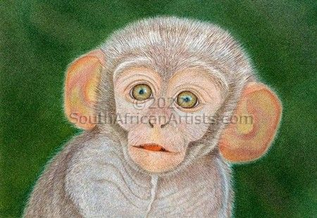 """Baby Monkey - Giclee Print only"""