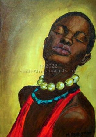 """African Woman in Red"""