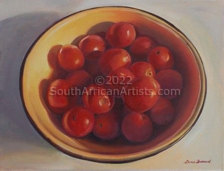 """Cherry Tomatoes in Yellow Bowl"""