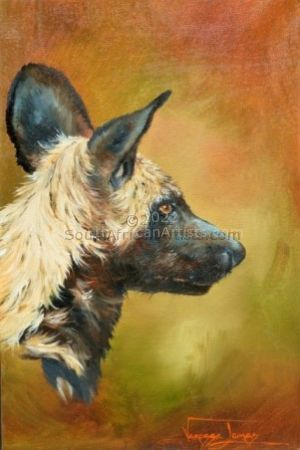 """Wild Dog Portrait"""
