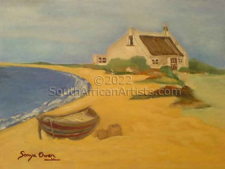 """Fisherman Cottage and Boat in Paternoster"""