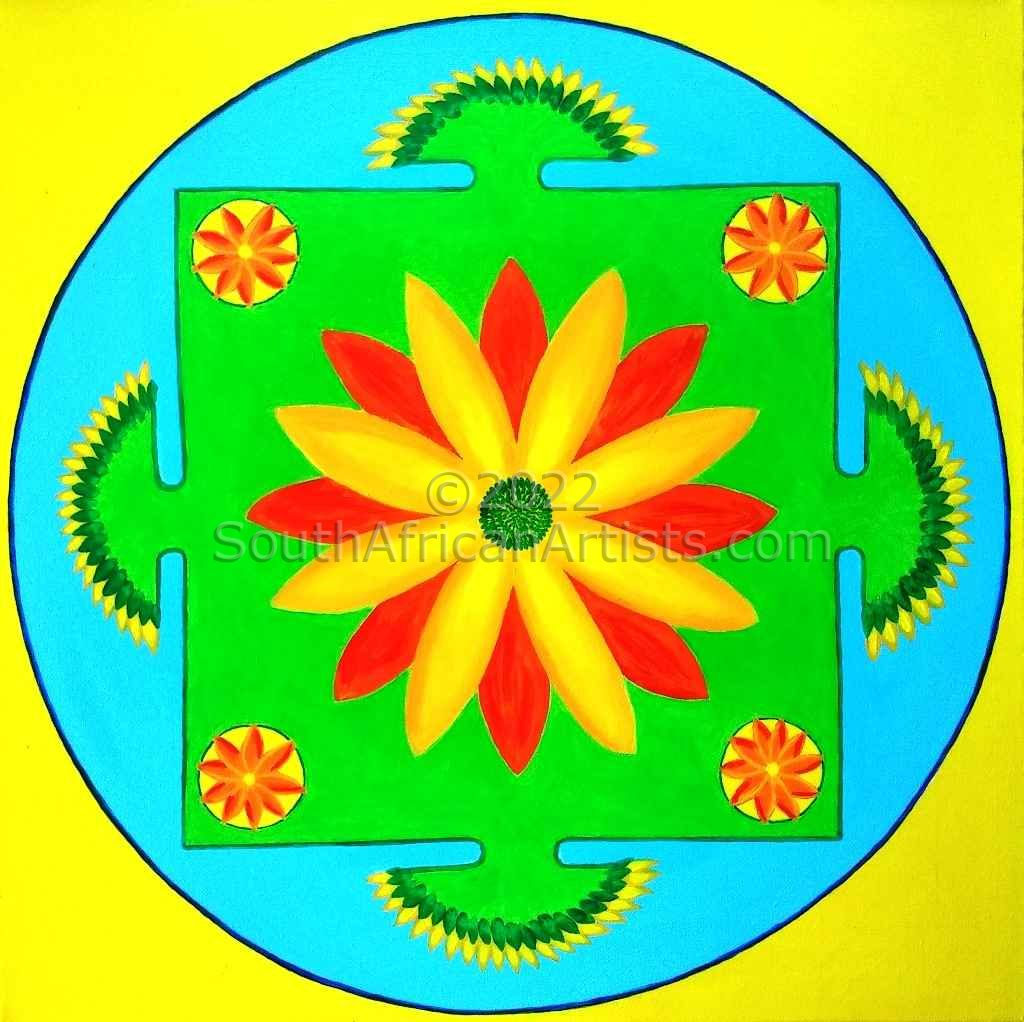 """Mandala No.2: Happy"""